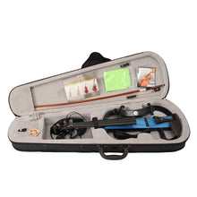 Portable Full Size 4/4 Natural Electro Acoustic Violin Fiddle with Bow Rosin String Carry Case