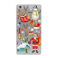 Christmas Santa Claus Girl  Case for Huawei P10 P9 P8 Lite P10 P9 Plus P7 P6 G7 & Honor 4C 4X 7 6 8 Lite