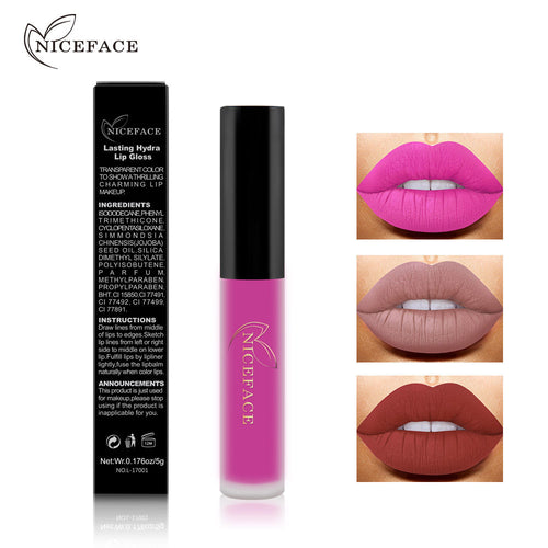 NICEFACE 1 pc Long Lasting Matte Liquid Lipstick Lip Gloss