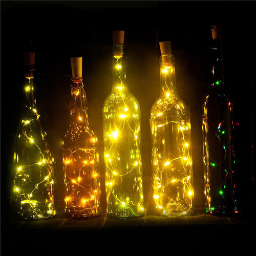 Wine Bottle Lights Battery Powered, LED Cork Shaped