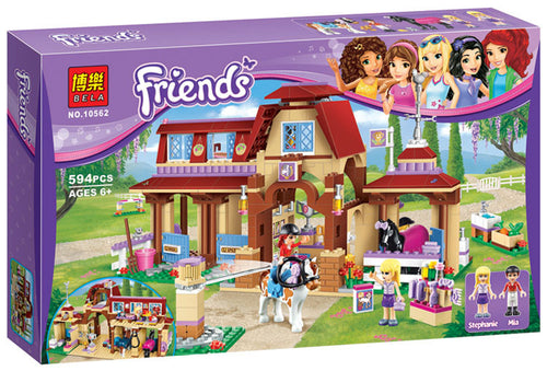 Girls Friends Heartlake Riding Club Building Blocks 594Pcs Kids Model bricks Toys