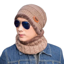 Winter Unisex Beanie Plain Knit Ski Hat Warm Slouchy Skull Cap Sets Hat+Scarf