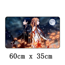 60 x 35cm Japan Anime Mouse Keyboard Pad PC Gaming Desk Top Soft Mat Computer