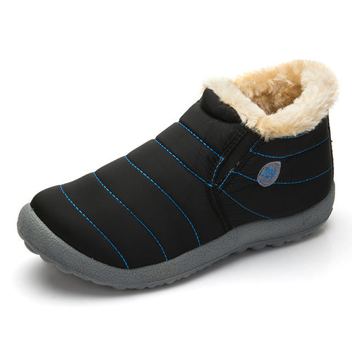 Plus Size Shoes 10-13 Winter Ankle Snow Boots Waterproof  Cotton Inside