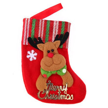 Christmas Stocking Merry Christmas Tree Topper Hanging Ornaments Snowman Santa Bear Candy Gift Socks Decoration