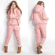 Women  3 Pcs Casual Hoodie Sweatshirt Vest Pants Suit Tracksuit Set