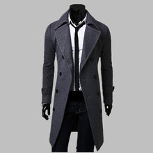 Warm Trench Coat Men Jacket Mens Overcoat Casual  Winter Long Coat Men  Plus Size
