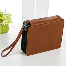 Portable PU Leather School Pencils Case