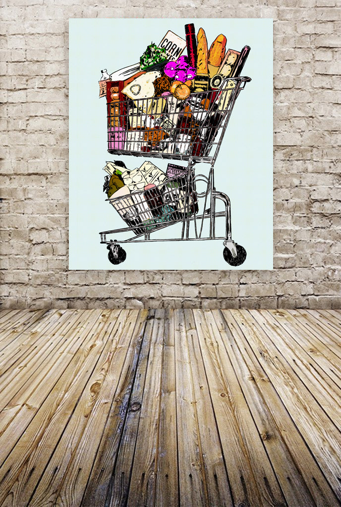 """Shopping Cart"" By The Pop Factory DG55"