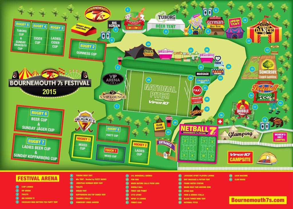 Bournemouth 7s Site Map