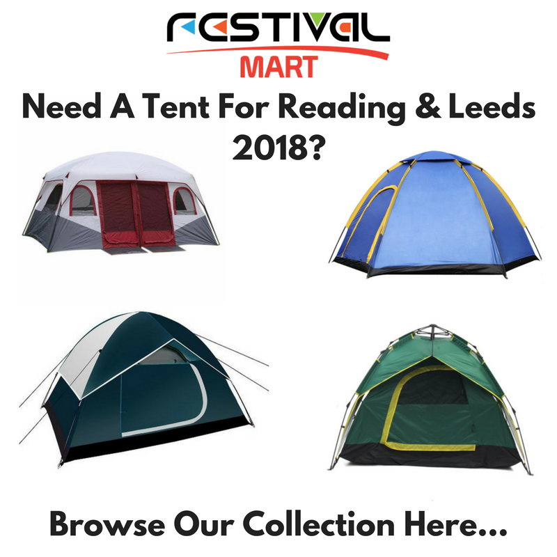 Reading And Leeds 2018 Festival Camping Tent Collection