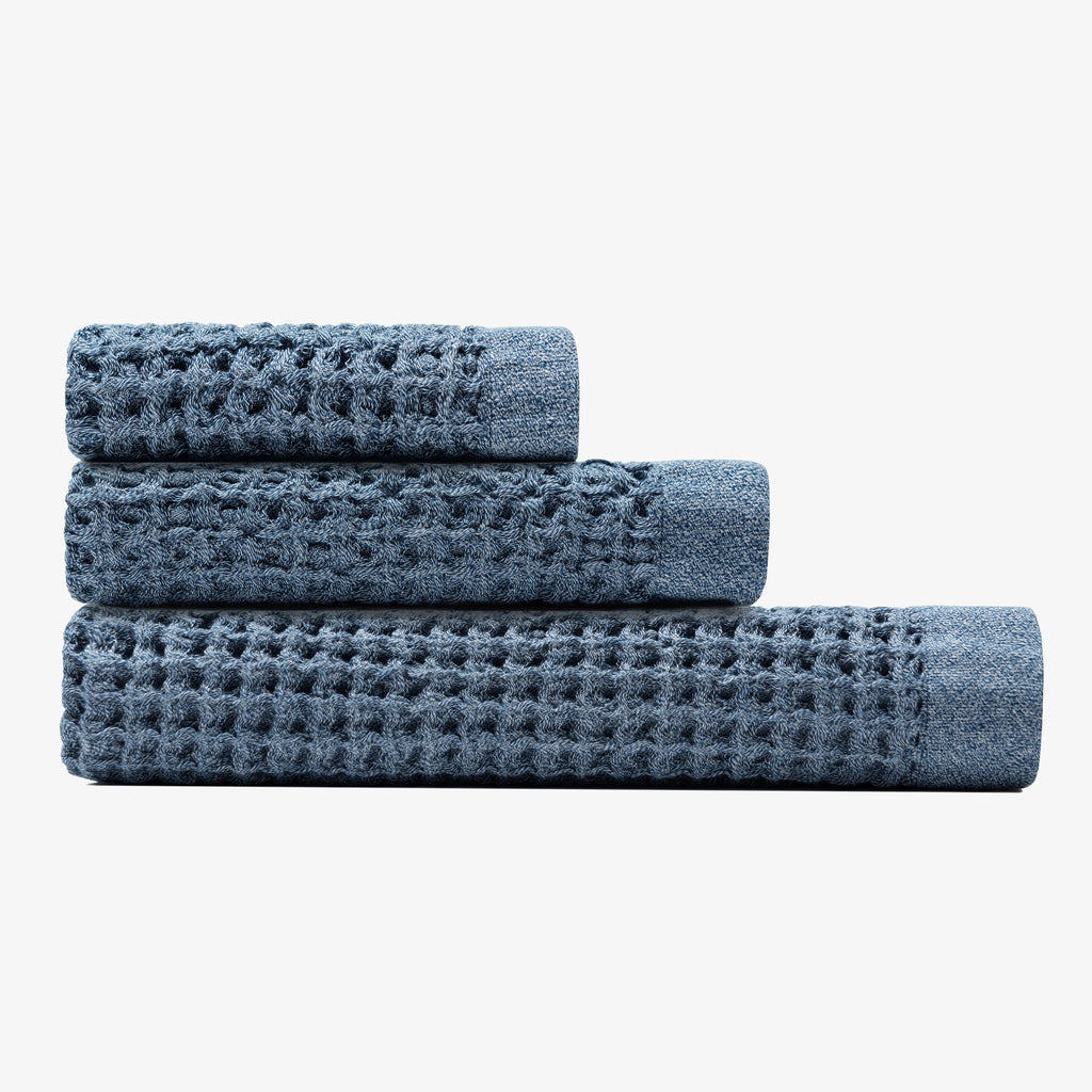 Onsen Bath Sheet Set - Denim Blue
