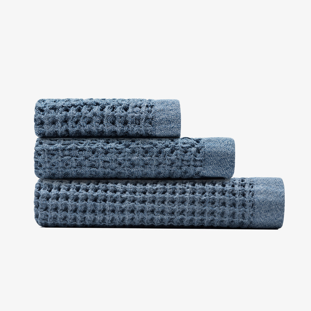 Onsen Towel Set - Denim Blue