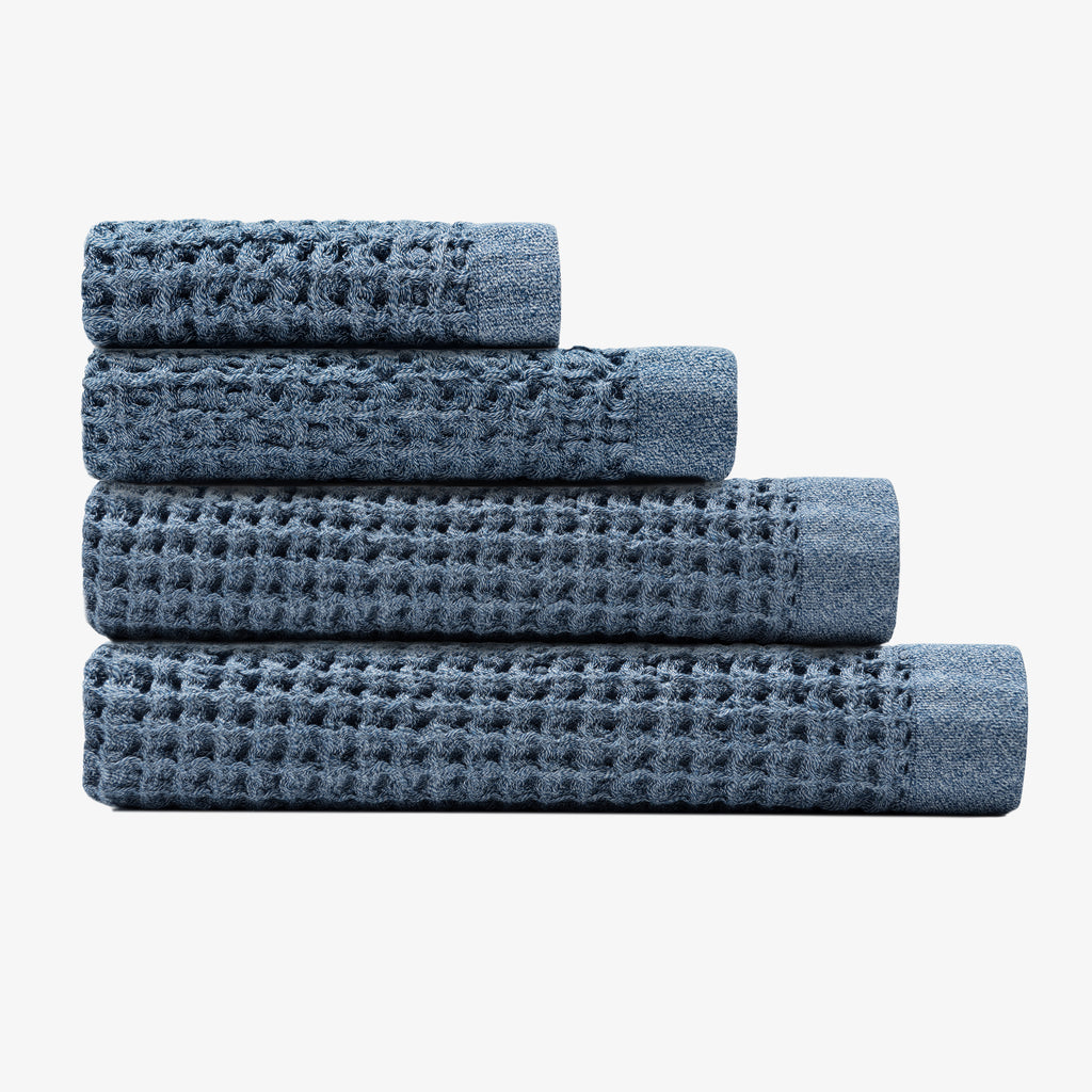 Onsen Towel Complete Set - Denim Blue