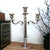 21 Inches Handcrafted 3 Arms Aluminum Candelabra in Traditional Style, Polished Silver - BM01831