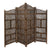 BM01875 Villa Este Wood Room Divider 4 Panel Carved Screen