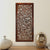 Rectangular Mango Wood Wall Panel with Cutout Scrollwork Details, Brown - BM01886