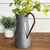 Classic Galvanized Metal Jug With Handle, Gray - BM02378