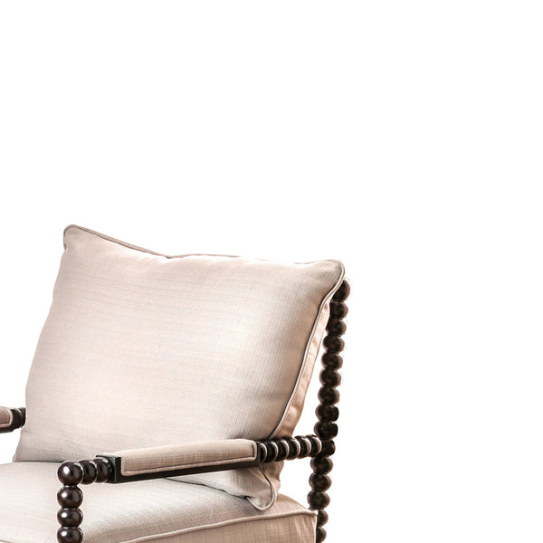 Sybil Contemporary Accent Chair, Beige - BM119869