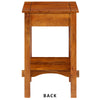 Spacious Mango Wood Nightstand with Slatted Side Panels, Brown - BM122854