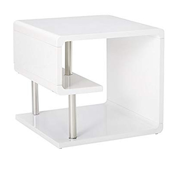 BM123079 Ninove I Contemporary Style End Table, White