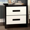 BM123095 Rutger Contemporary Style Nightstand, White & Black