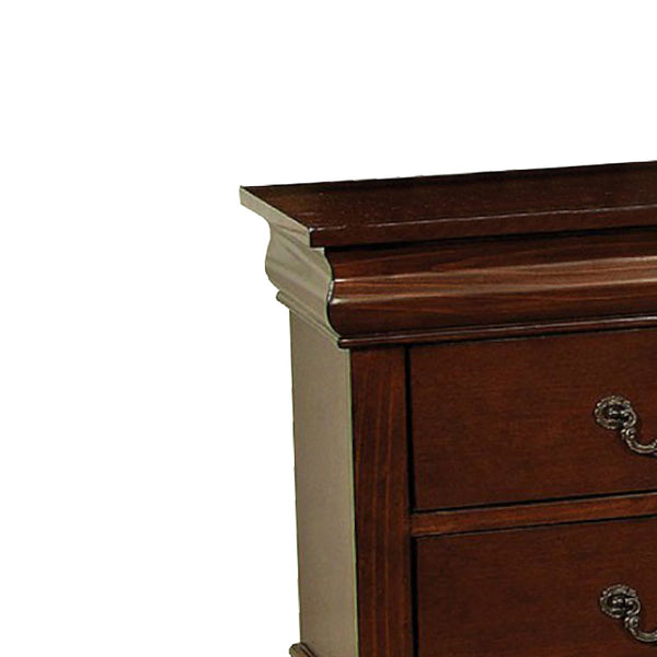 Velda II Traditional Style Nightstand, Cherry Finish - BM123120