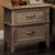 BM123142 Loxley Transitional Nightstand, Weathered Oak Finish