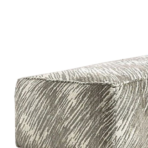 BM123163 Stefano Contemporary Ottoman, Light Mocha Finish