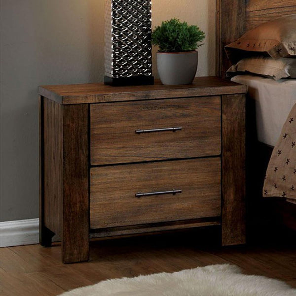 Elkton Transitional Night Stand In Oak Finish - BM123202