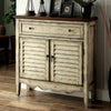 BM123413 Hazen Country Style Cabinet, Antiqued White & Brown
