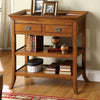 BM123414 Wickenburg Transitional Side Table, Medium Oak