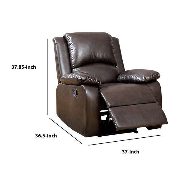 BM123435 Oxford Transitional Recliner, Rustic Dark Brown