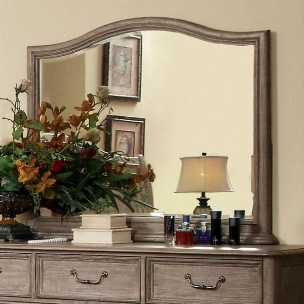Belgrade I Transitional Style Mirror , Rustic Natural Tone - BM123661