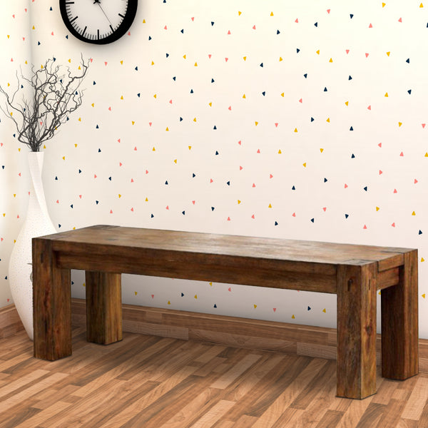 Frontier Transitional Style Bench , Dark Oak - BM123720