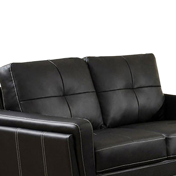 Blacksburg Contemporary Style Love Seat , Black - BM123723