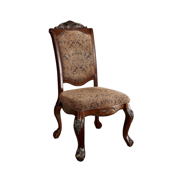 BM131179 Cromwell Traditional Side Chair, Cherry Finish, Set Of 2