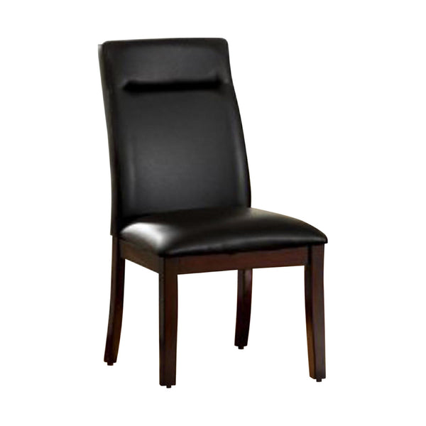 BM131182 Lawrence Contemporary Side Chair With Bonded Leather, Set Of 2