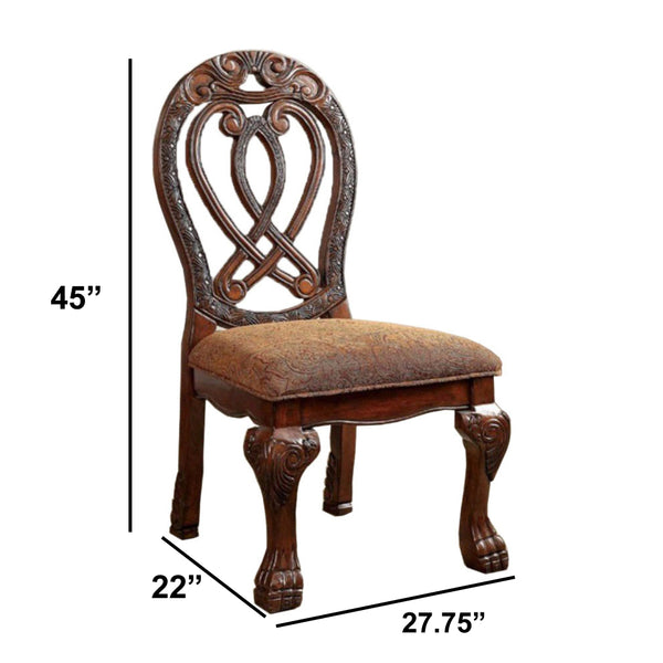 Wyndmere Traditional Side Chair, Cherry Finish, Set Of 2 - BM131196