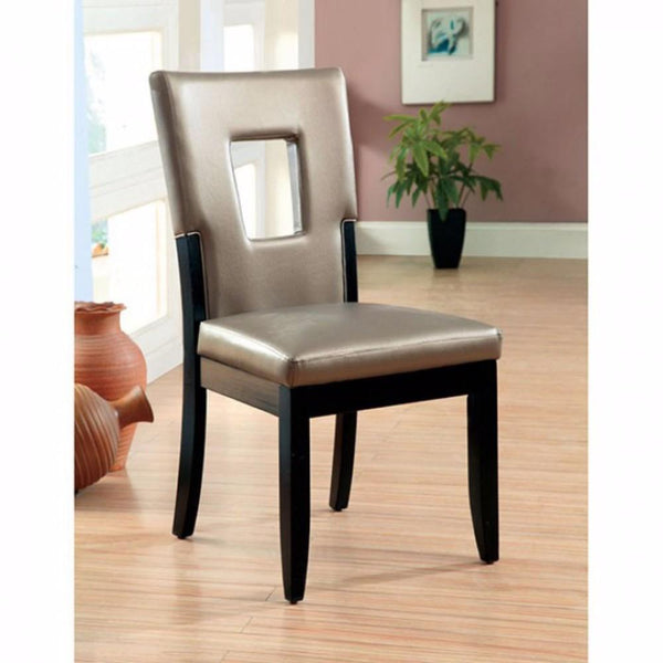 BM131231 Evant I Contemporary Side Chair, Black Finish, Set Of 2