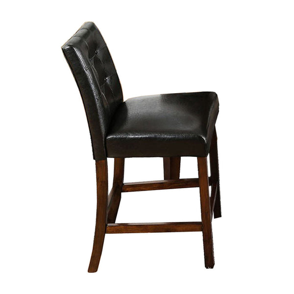 BM131259 Marstone II Counter Heigh Chair, Brown Cherry & Black, Set Of 2