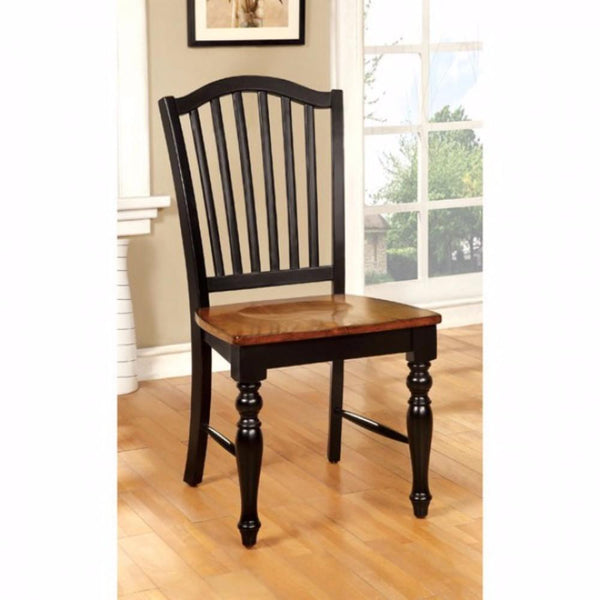 Mayville Cottage Side Chair, Black & Antique Oak Finsh, Set Of 2 - BM131268