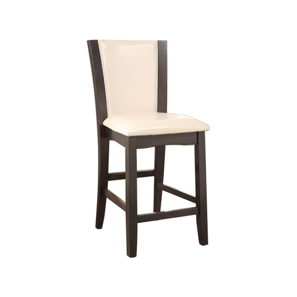BM131319 Manhattan Iii Counter Height Chair With Ivory, Gray Finish, Set Of 2