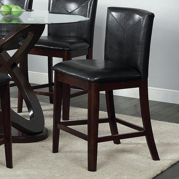 BM131331 Atenna II Contemporary Counter Height Chair With Dark Walnut, Set Of 2