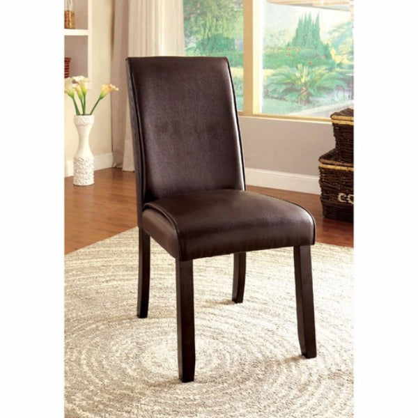 Gladstone I Contemporary Side Chair, Dark Walnut Finish, Set Of 2 - BM131338