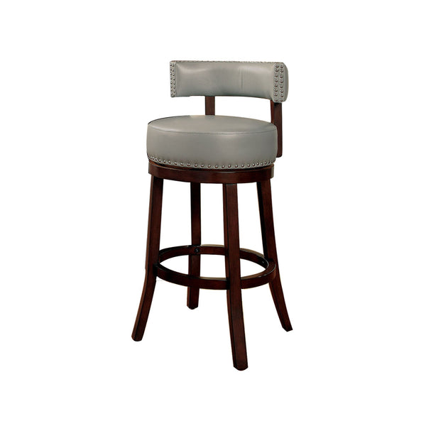 "Shirley Contemporary 24"" Barstool, Gray Finish, Set Of 2 - BM131352"