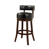 "BM131358 Shirley 29"" Barstool Withpu Cushion, Black Finish, Set Of 2"