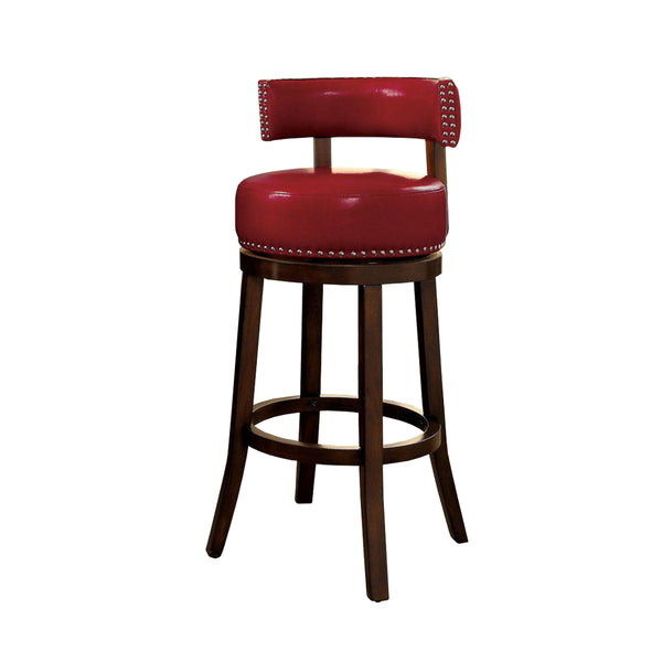 "BM131360 Shirley 29"" Barstool Withpu Cushion, Red Finish, Set Of 2"