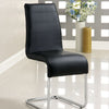 BM131374 Mauna Contemporary Side Chair With Steel Tube, Black Finish, Set Of 2