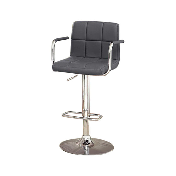 Corfu Contemporary Bar Stool With Arm In Gray - BM131405